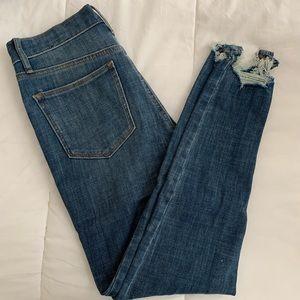 GAP frayed skinny jeans